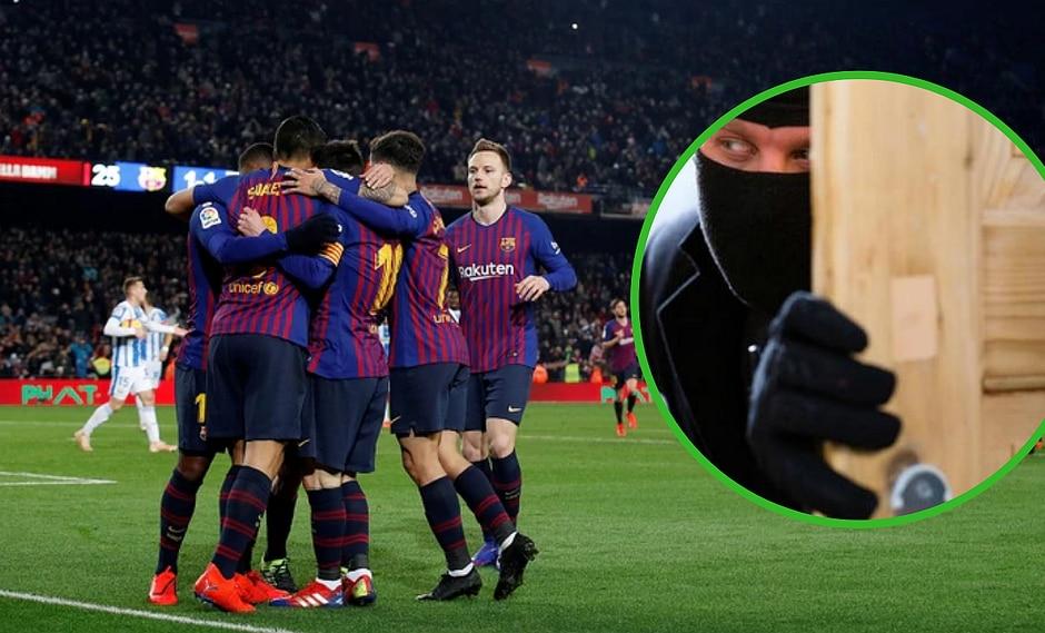 Fue titular en el Barcelona por primera vez y su casa fue desvalijada en pleno partido