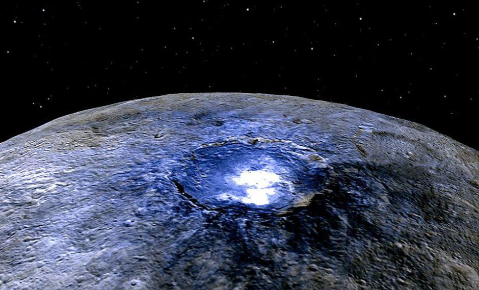 Detectan decenas de volcanes de hielo en el planeta enano Ceres