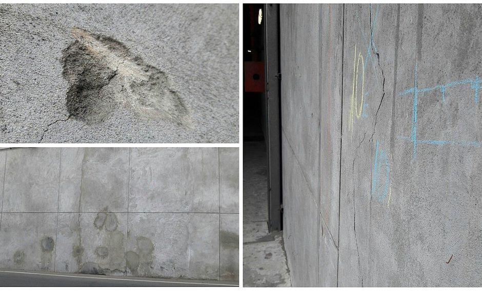 By-pass 28 de julio: muros de reciente obra lucen parchados (VIDEO)