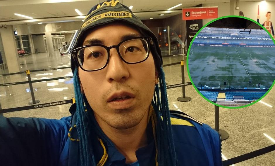 Japonés fanático de Boca viajó a Argentina para la final y ahora se la perderá