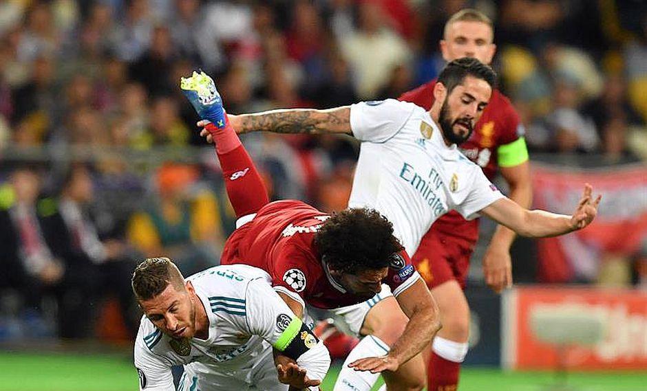 Salah se perdería el Mundial por brutal falta de Sergio Ramos (VIDEO)