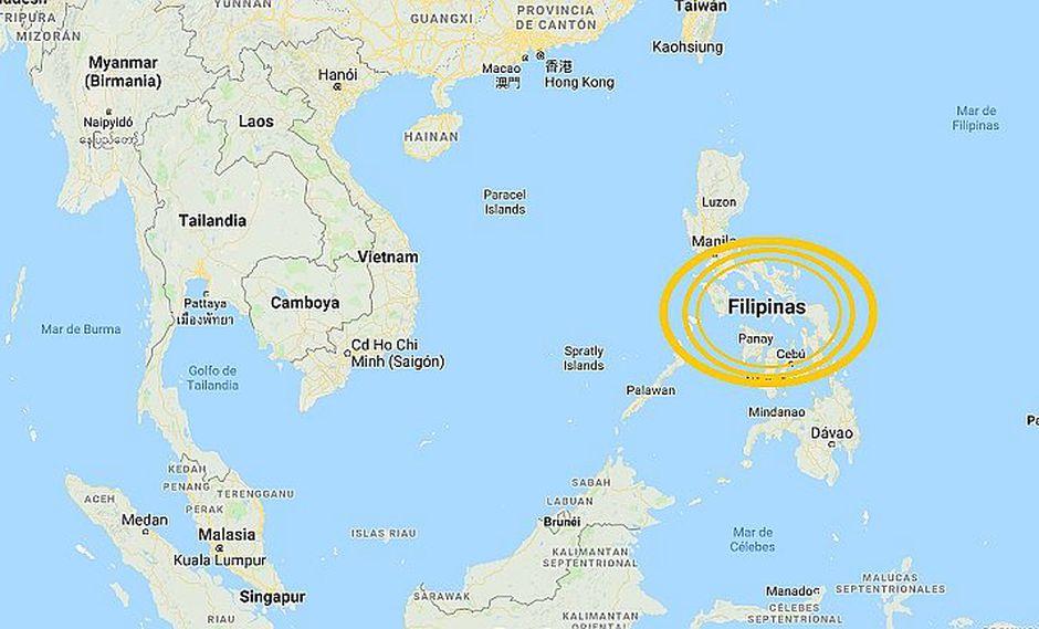 Sismo de 5.9 grados sacudió Filipinas