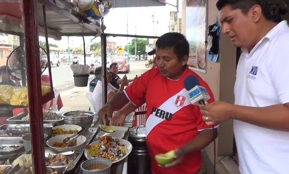 Peruano la rompe en Ecuador con ceviche de carretilla (VIDEO)