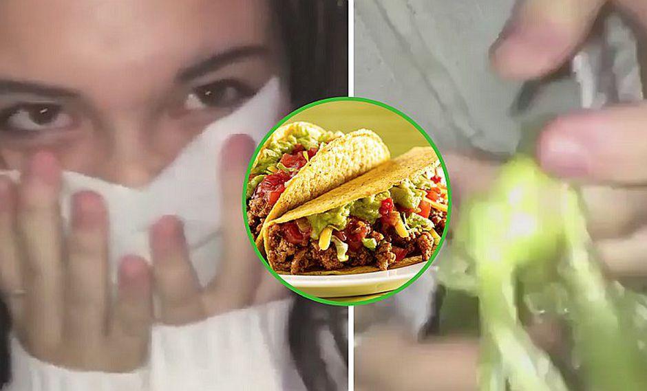 Joven le declara su amor a una chica con unos tacos y ella no oculta su reacción (VIDEO)