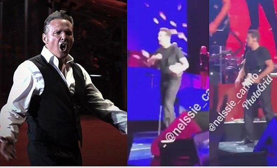 Luis Miguel enfurece en pleno show y lanza lo que tenía en la mano (VÍDEO)