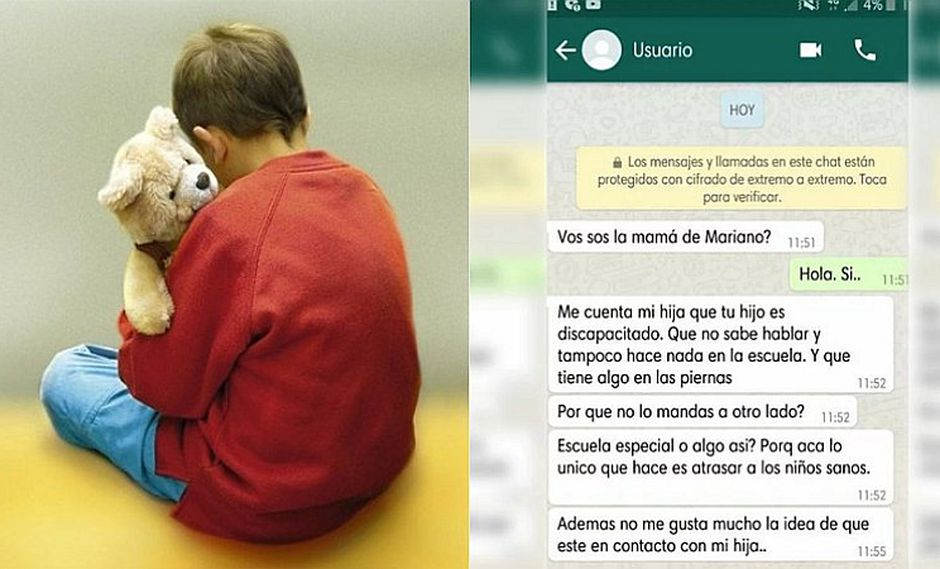Mamá de niño autista recibe indignante mensaje por WhatsApp