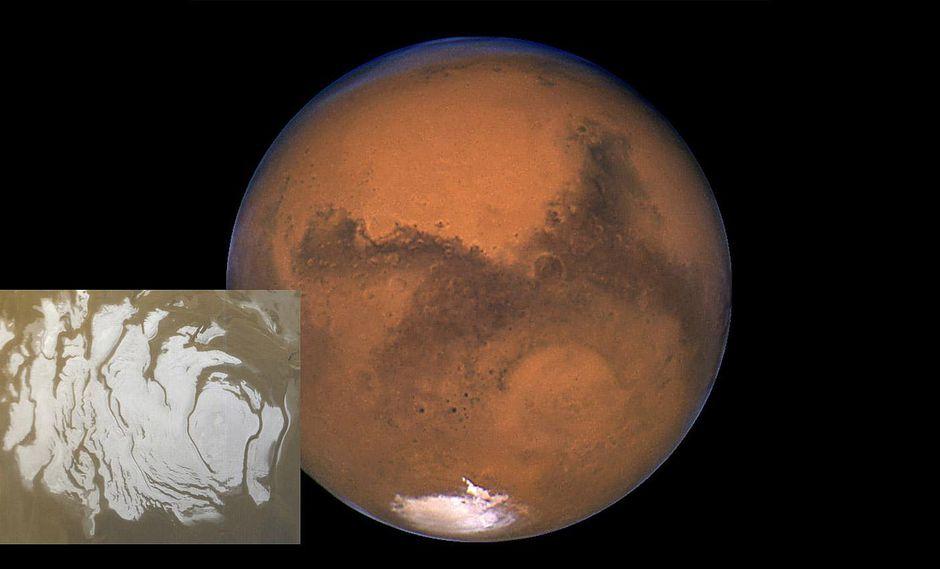 Lago de agua líquida en Marte aumenta probabilidad de vida en el planeta