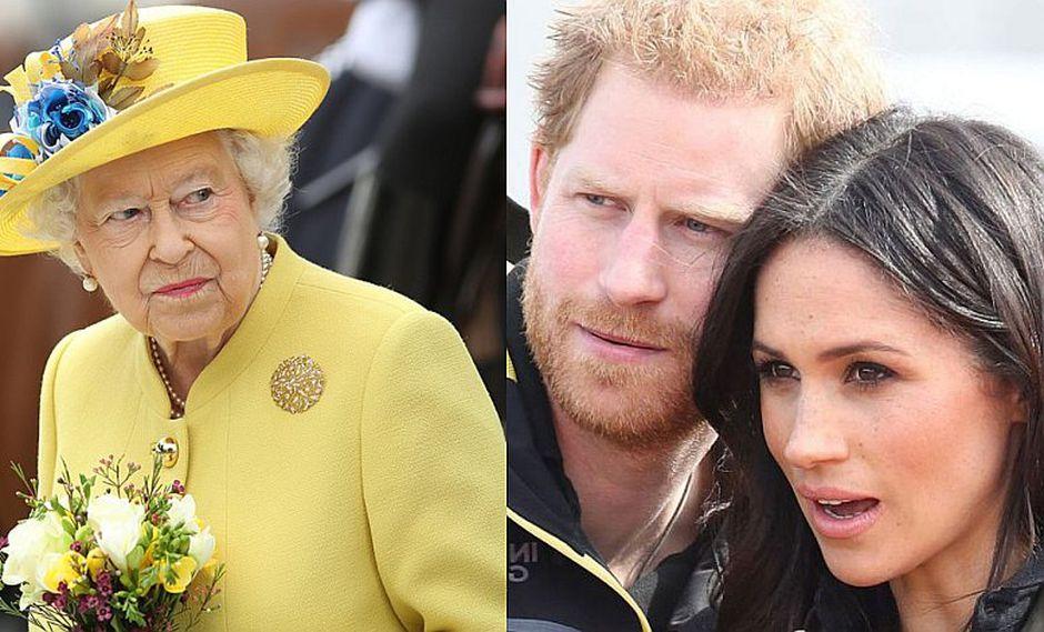 Reina Isabel pide eliminar foto de Príncipe Harry y Meghan Markle del palacio