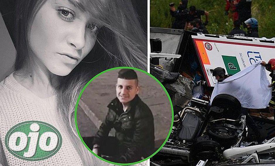 Novia italiana de peruano Carlos Erazo también murió en la tragedia del puente (FOTOS y VÍDEO)