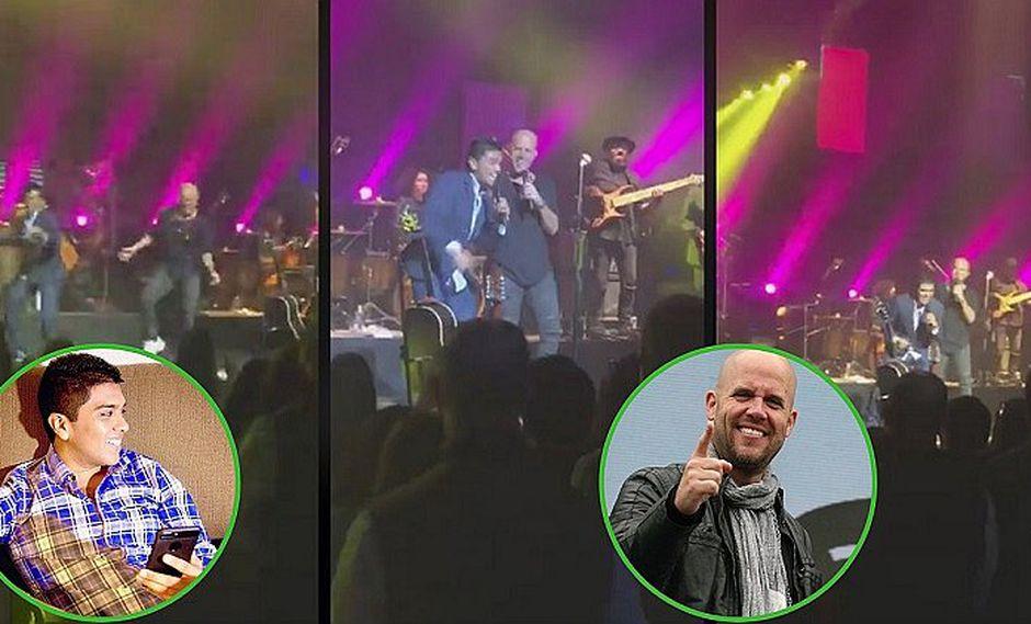 Gian Marco y Christian Yaipén cantando juntos tema de Grupo 5 (VIDEO)