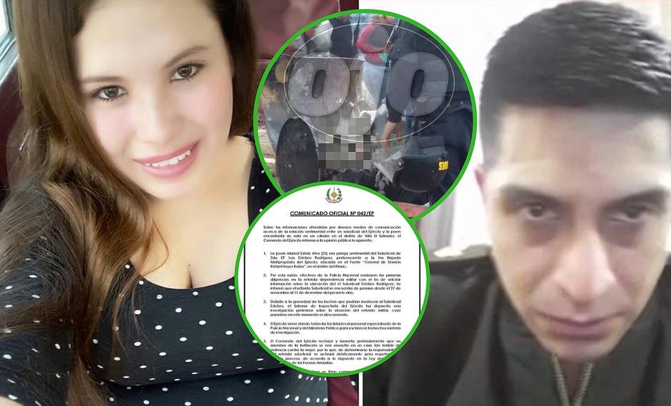 Ejército revela detalle clave sobre militar sospechoso de asesinar a joven hallada en cilindro