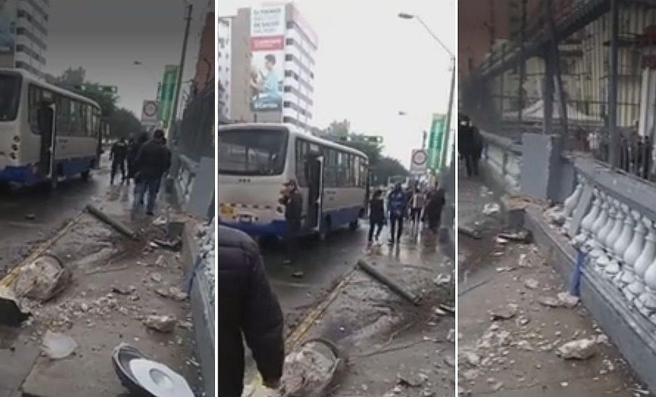 Corredor Azul: Chofer de bus perdió el control y se estrelló contra Embajada de Venezuela│VIDEO