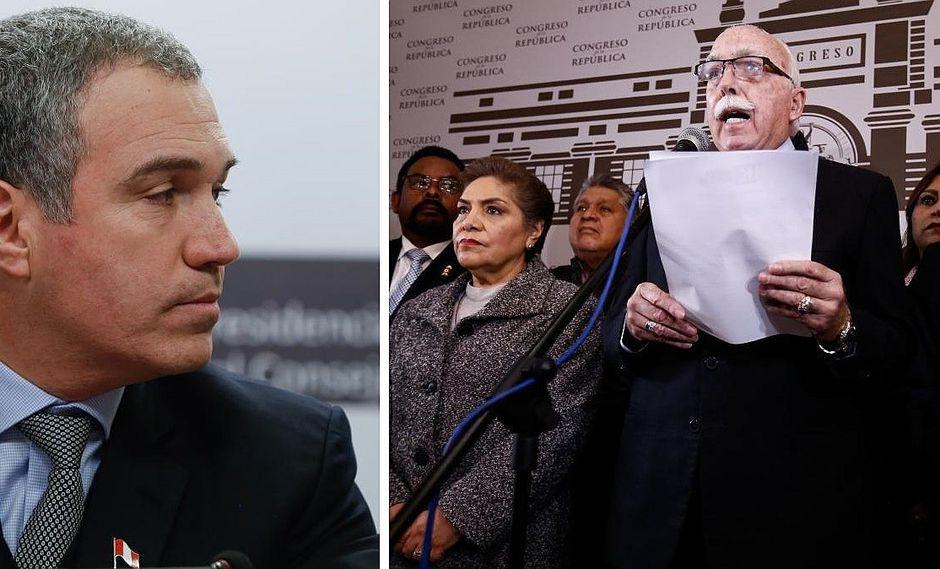 Salvador del Solar recibe a congresistas de Fuerza Popular para tratar adelanto de elecciones