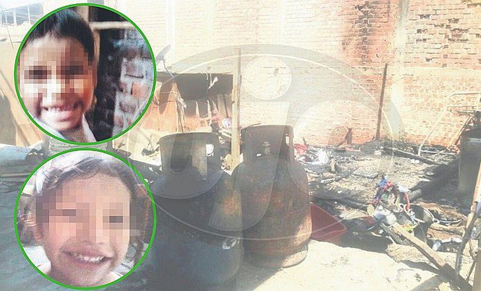 Hermanitas mueren calcinadas en incendio mientras dormían (FOTOS)
