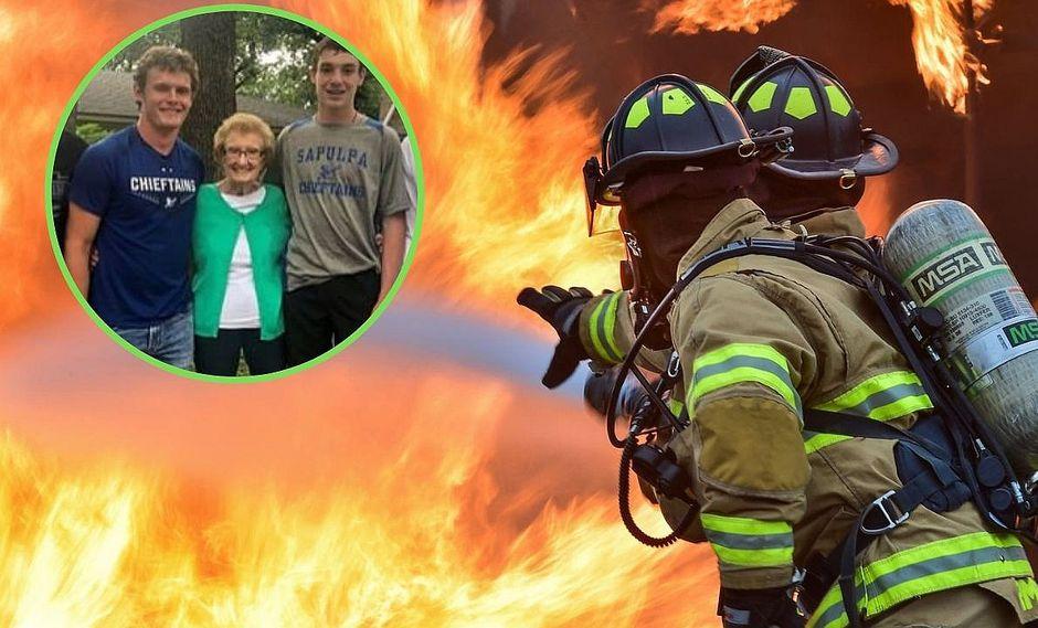 Cuatro adolescentes salvan a abuelita de morir en incendio en su casa | VIDEO