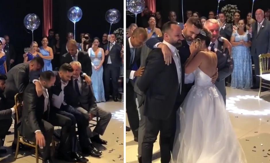 Hombre parapléjico sorprende a su novia parándose y bailando con ella en su boda (VIDEO)