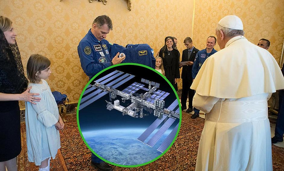 Astronautas de la Estación Espacial Internacional hacen un inusual regalo al Papa Francisco