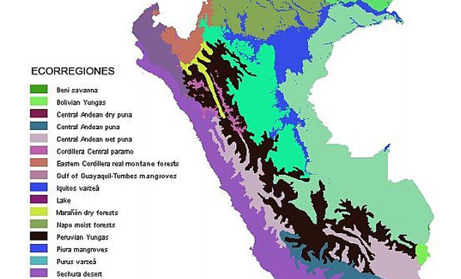 Las 11 ecorregiones de Perú que identificó  Antonio Brack