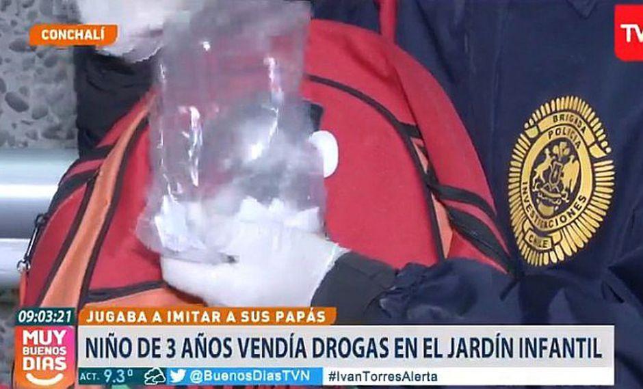 Niño de 3 años imita a sus padres y vende cocaína en nido a sus compañeritos