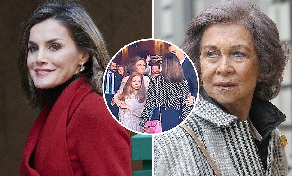 Circula nueva imagen de las reinas Letizia y Sofía tras 'escándalo real'