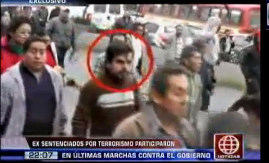 Exterroristas participaron en protestas contra el gobierno [VIDEO]