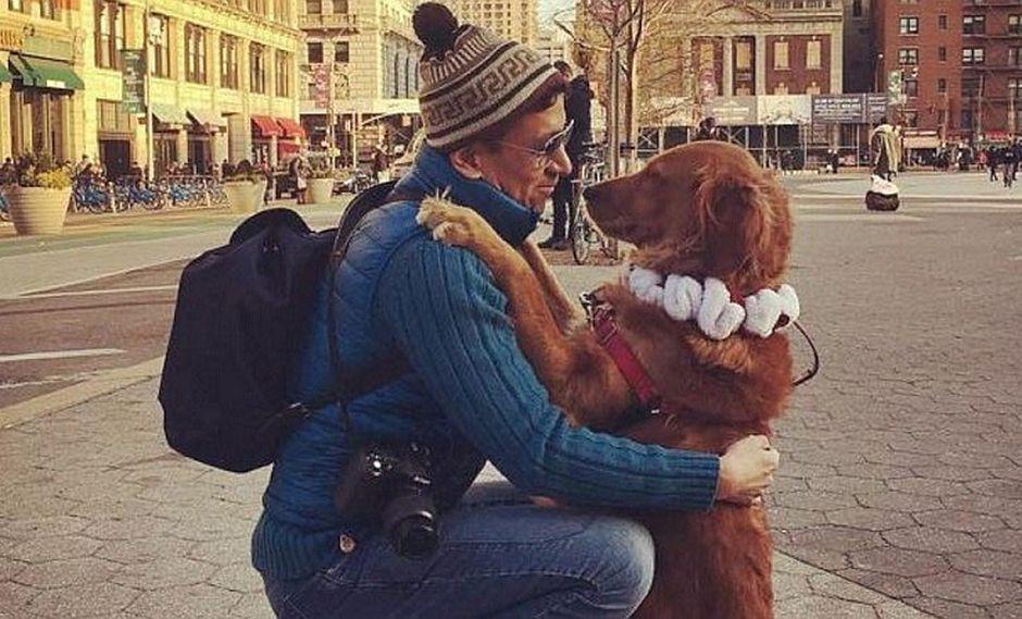 Ella es Loubie, la perrita que regala abrazos en Nueva York