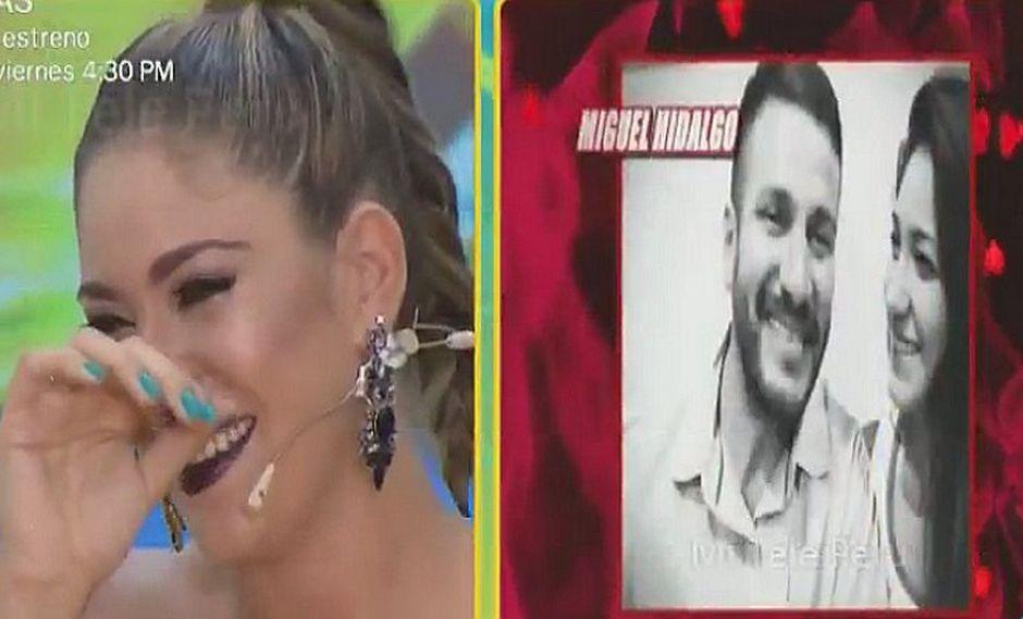 Miguel Hidalgo le envía romántico audio a Tilsa Lozano por San Valentín