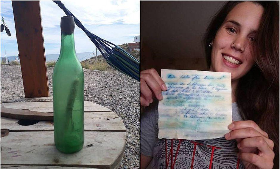 Hallan botella lanzada con mensaje hace 44 años y la historia es triste